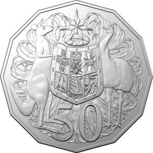 Australian 50 cent coin